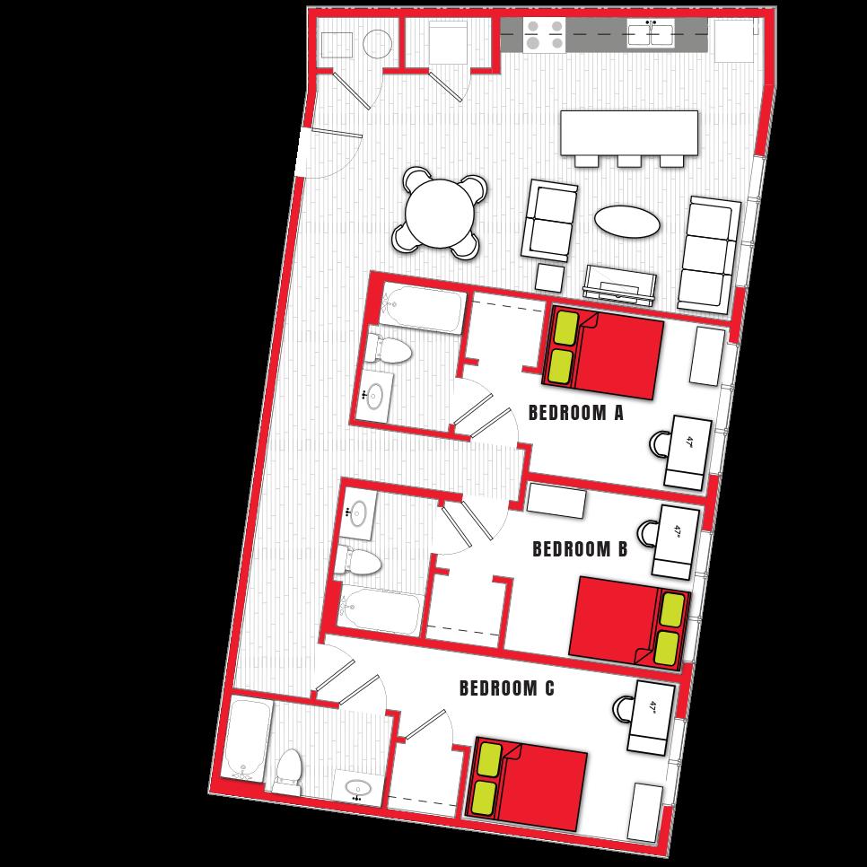 Stanhope Apartments floor plan 3d