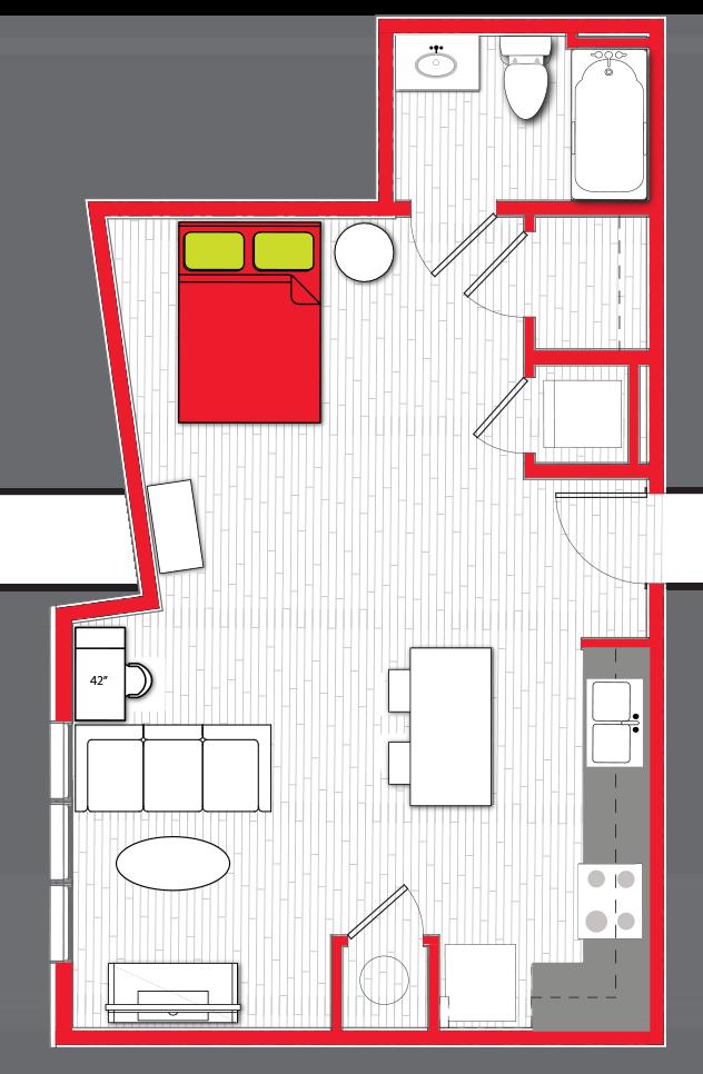 Stanhope Apartments floor plan s4