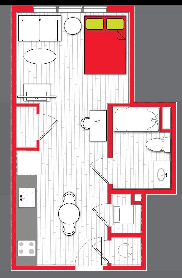 Stanhope Apartments floor plan s8
