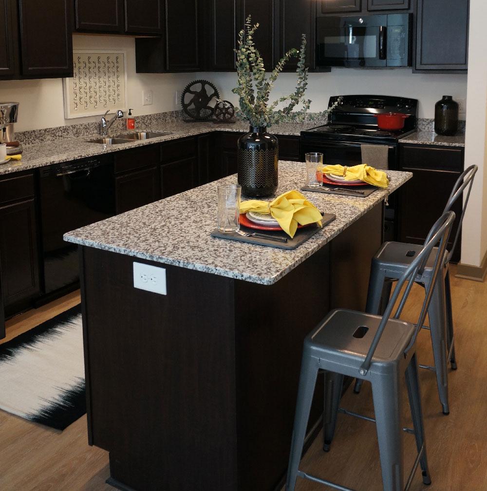 Stanhope Student Apartments Model Kitchen