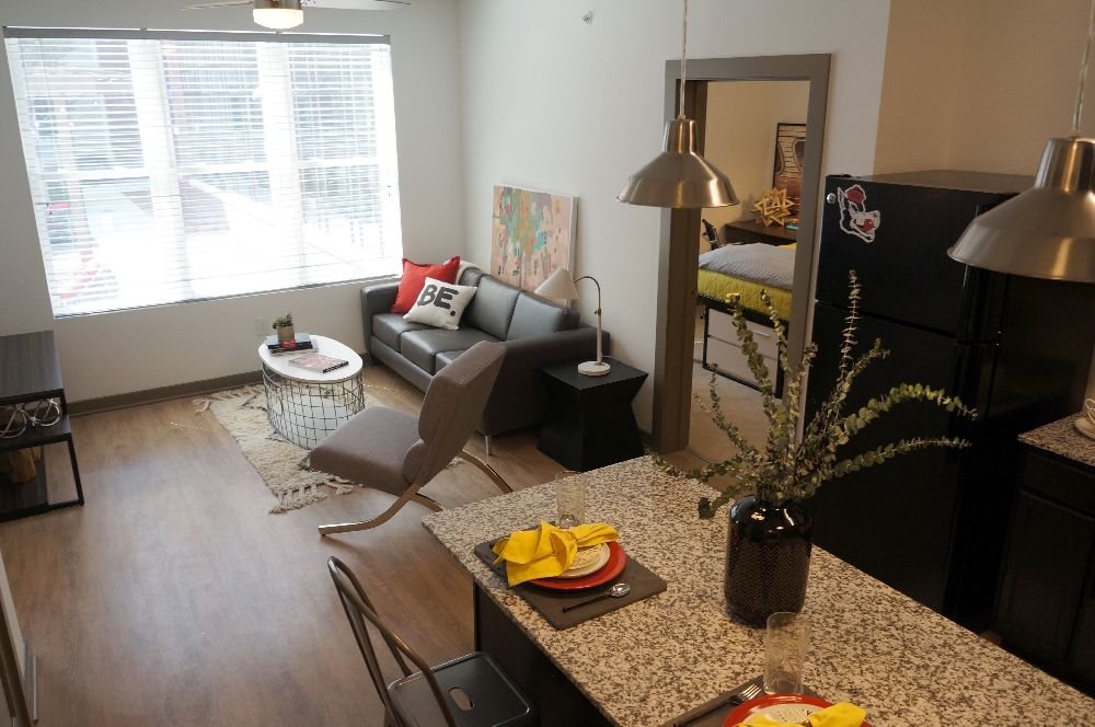 stanhope student apartment kitchen