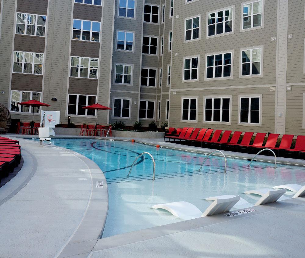Stanhope Student Apartments Pool