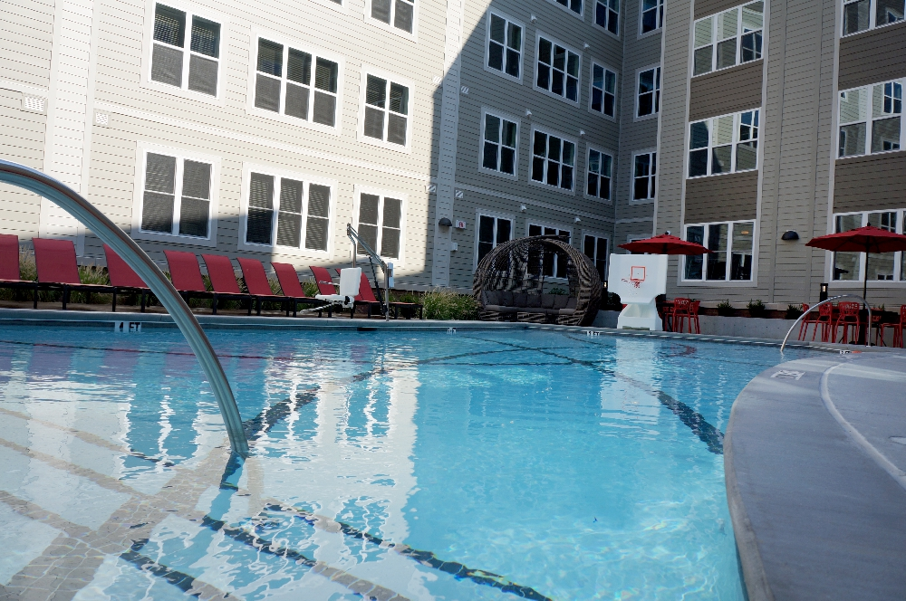 stanhope student apartments pool view