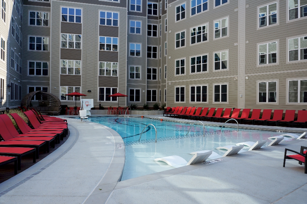 stanhope student apartments pool area