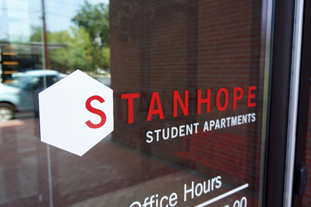 stanhope student apartments front door
