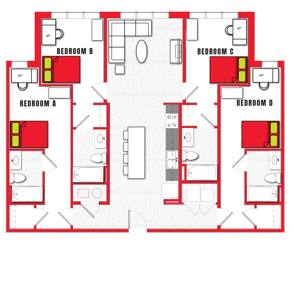 Stanhope Apartments floor plan 4a