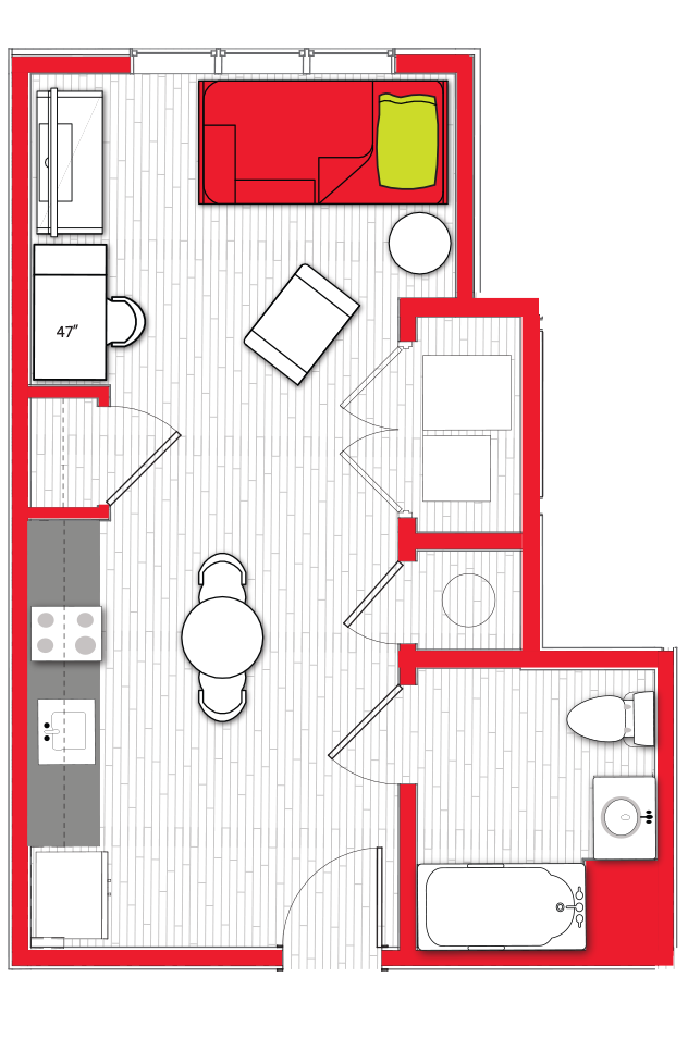 Stanhope Apartments floor plan s10