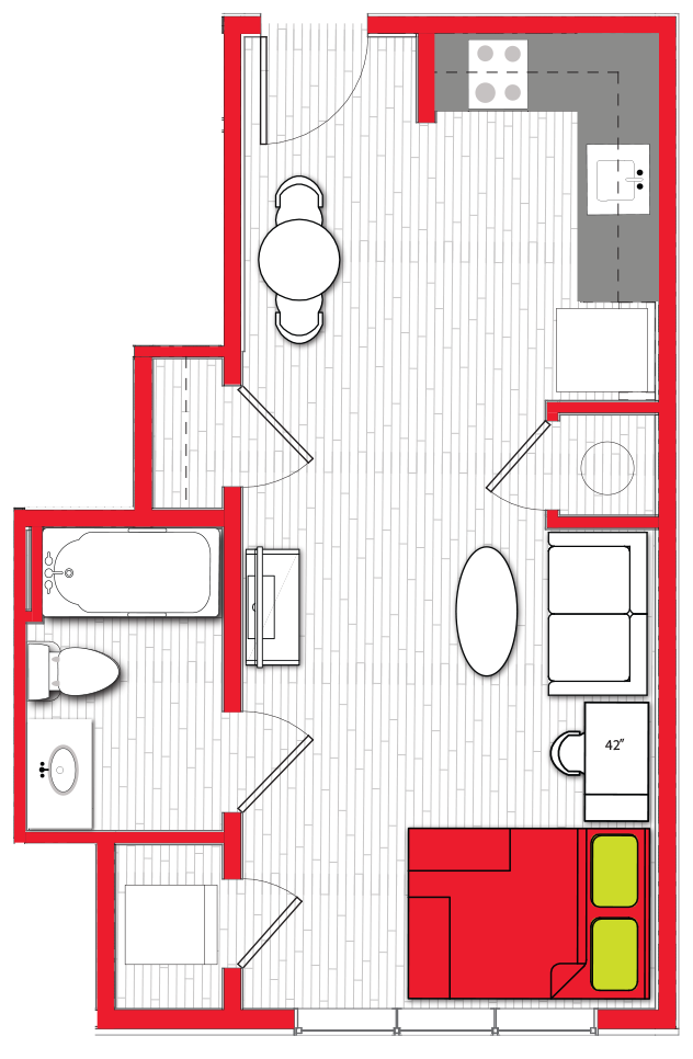 Stanhope Apartments floor plan s2