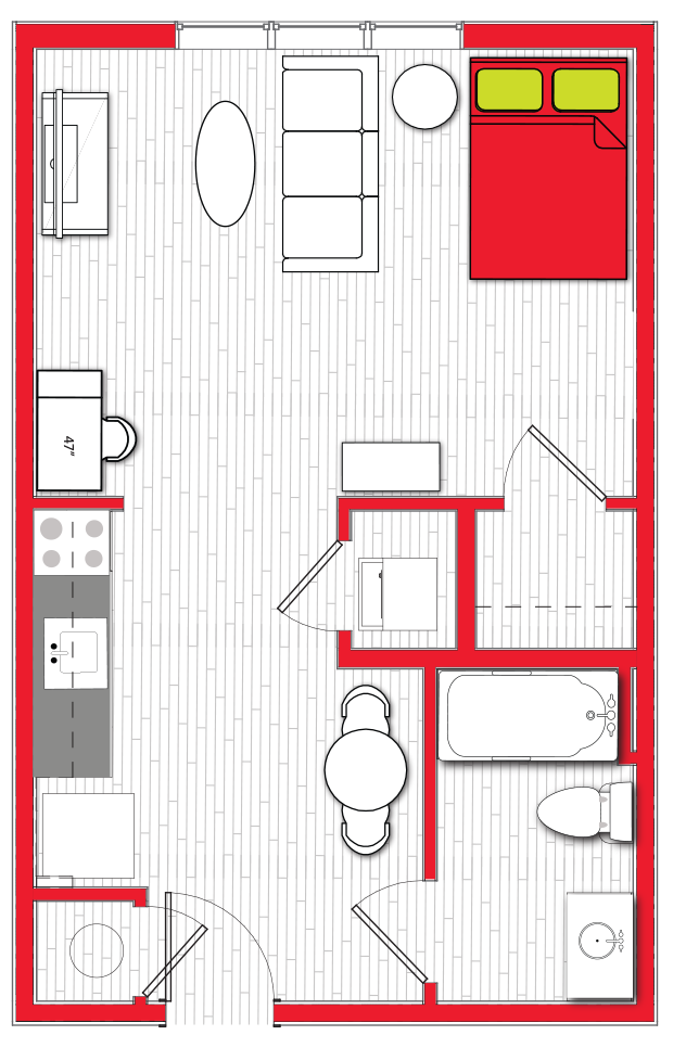 Stanhope Apartments floor plan s5