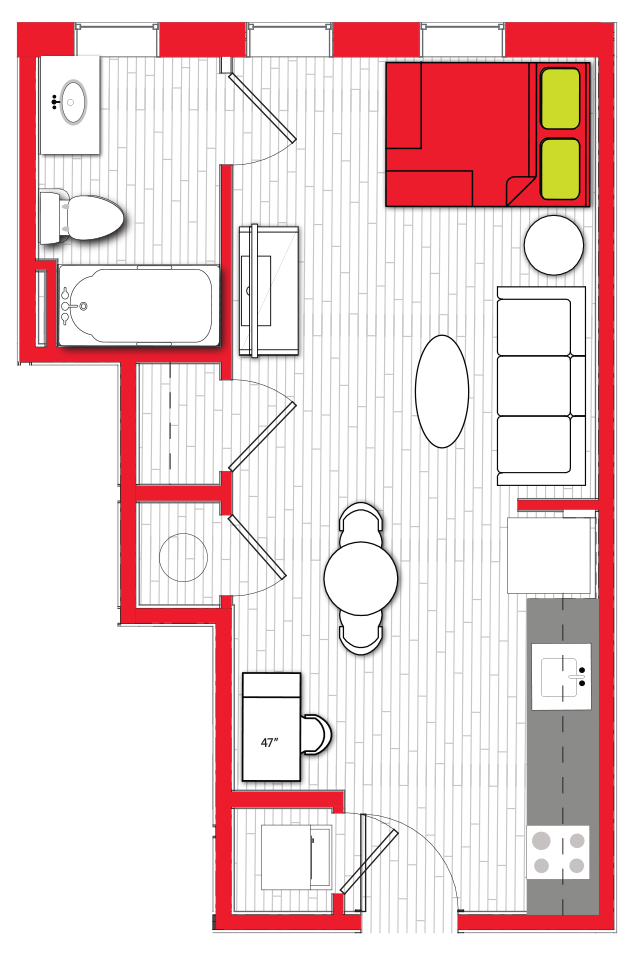 Stanhope Apartments floor plan