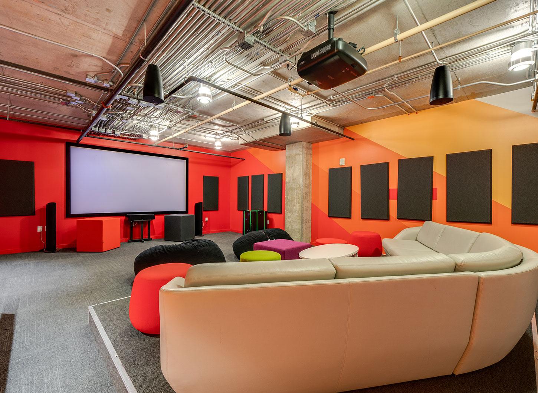 Stanhope Apartments theatre room